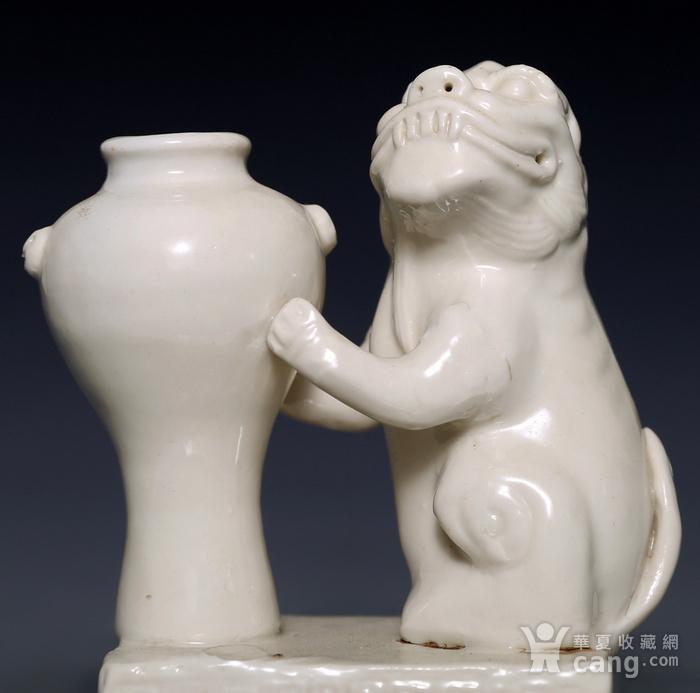藏淘阁清代时期德化窑狮子油灯专家已经鉴定CN06图3