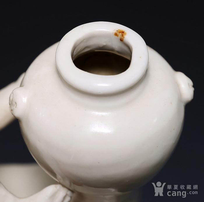 藏淘阁清代时期德化窑狮子油灯专家已经鉴定CN06图11