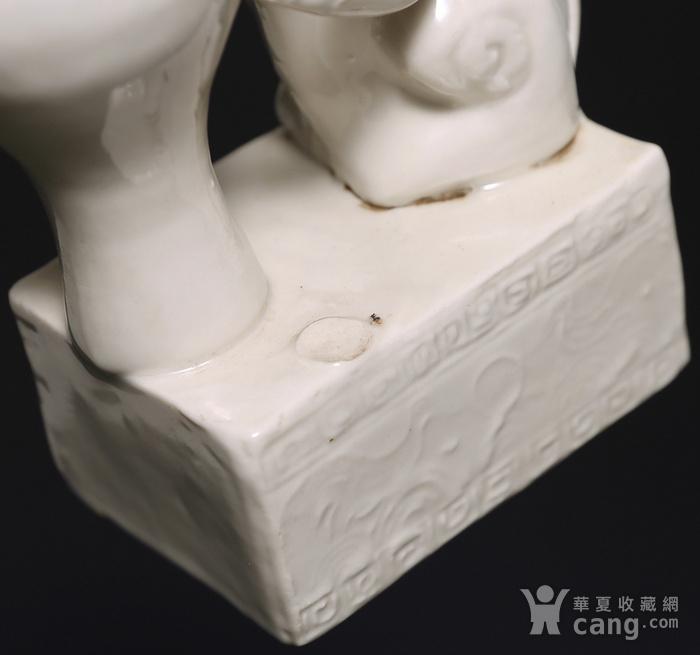 藏淘阁清代时期德化窑狮子油灯专家已经鉴定CN06图12