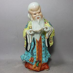 晚清寿星寿比南山塑像