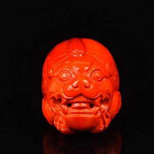 收藏级南红雕刻貔貅吊坠
