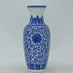 创汇期青花瓷瓶