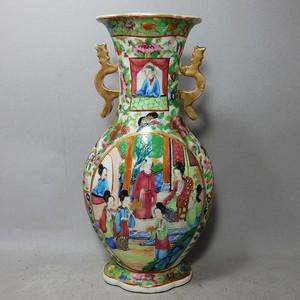 咸丰人物绘画海棠瓶