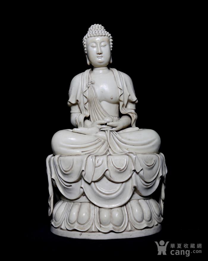 藏淘阁清中期德化窑如来大佛CN32图1