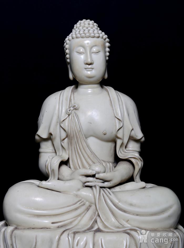 藏淘阁清中期德化窑如来大佛CN32图2