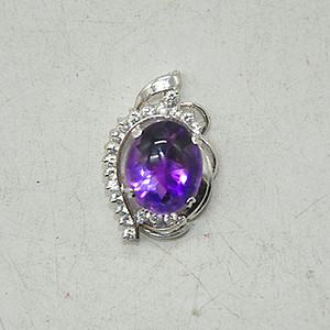 4.9克紫水晶吊坠