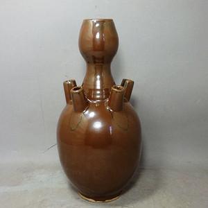 清代紫金釉六孔瓶