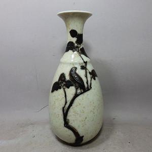 清代哥釉堆塑玉壶春瓶