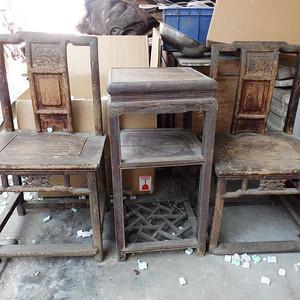 清代木质座椅一套
