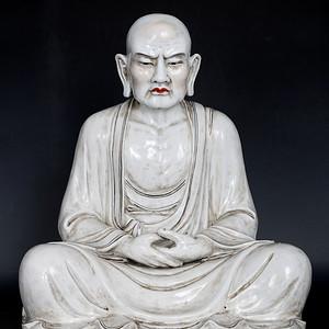 藏淘阁民国景德镇白瓷大罗汉CN34