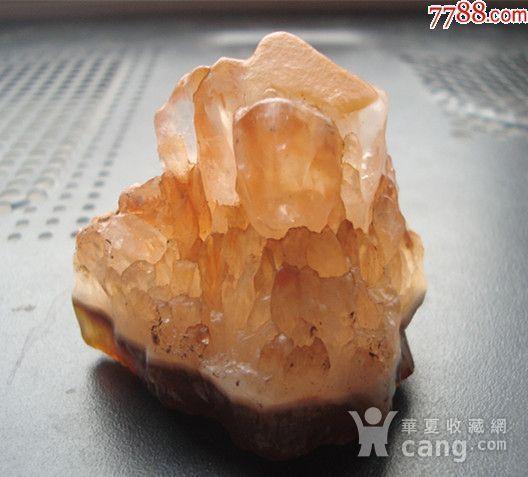 玛瑙底*水晶小摆件 山峦 图2