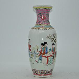 创汇期人物粉彩瓷瓶