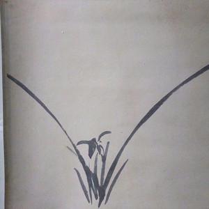 张伯驹,河南项城人,与张学良 溥侗 袁克文并称。轴裱兰花清香