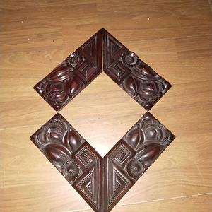 老红木雕刻板一套
