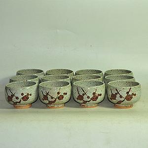 日本茶道专用茶碗一套12个