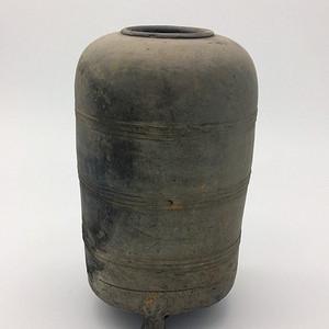 西汉  陶器谷仓罐