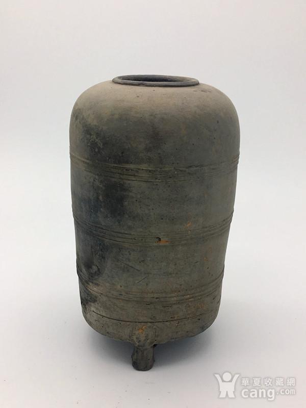 西汉  陶器谷仓罐图1