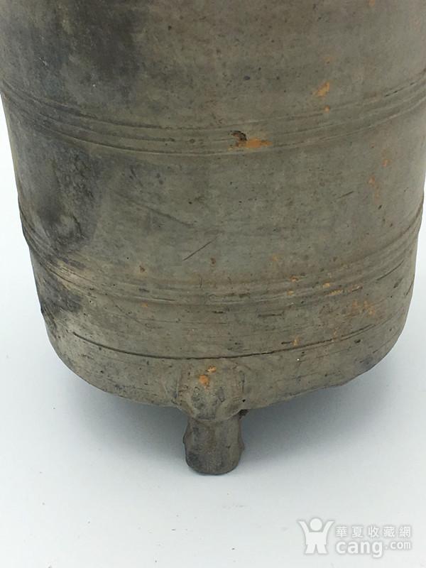 西汉  陶器谷仓罐图3