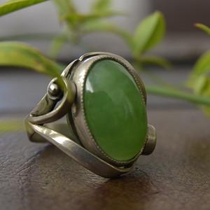 20世纪 满绿翡翠戒指