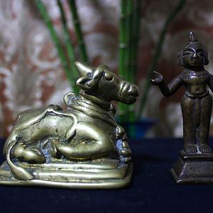 18 19世纪 印度克什米尔地区铜雕件