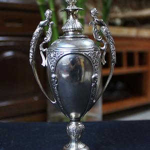 1910年 英国 纯银飞天女神杯 带银标