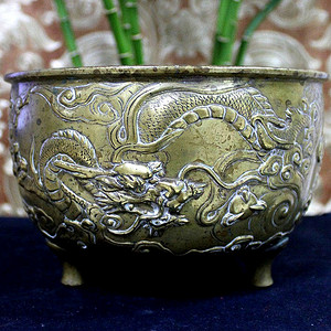 重器 清乾隆 17 18世纪 铜鎏金龙纹炉