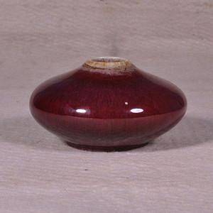 乾隆红釉飞蝶形水呈