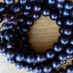 印度老料紫檀108佛珠手串,