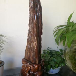 缅甸精品冰种树化玉摆件