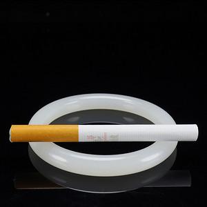 和田玉手镯天然羊脂玉玉镯女款圆条镯内径60mm