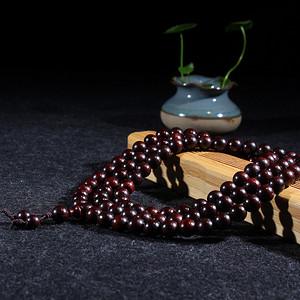 极品老料小叶紫檀1.0 108颗念珠