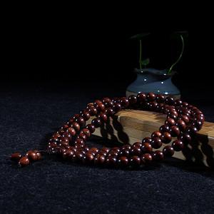 海南黄花梨紫油梨0.8 108颗念珠