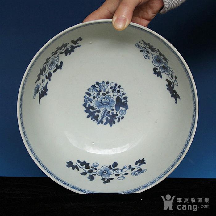 收藏级22cm巨大清乾隆青花海碗