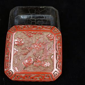 旧藏回流精品漆雕方首饰盒