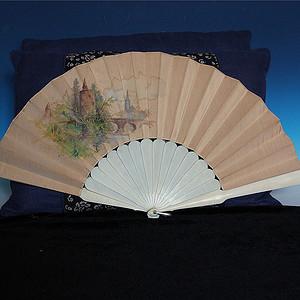 特殊材质 民国时期绢丝绘画扇