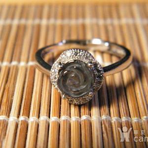 天然极品碧玺银戒指2