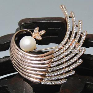 回流 珍珠胸针 特别漂亮