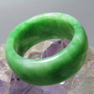 老坑翡翠 正阳绿 指环戒指