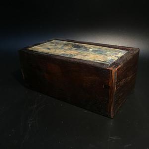 回流螺钿镶嵌榫卯机关老木盒