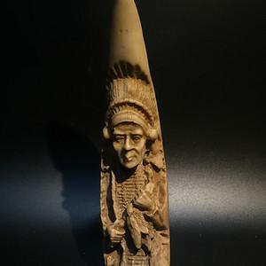 回流骨雕印第安酋长