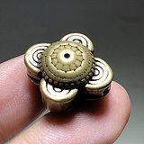 清 铜制 宝相花 包浆老厚手工錾刻 工艺精美 佩串漂亮