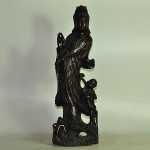 木雕措银菩萨像