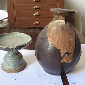 明清瓷杂0元拍光民时期地方窑陶器两件