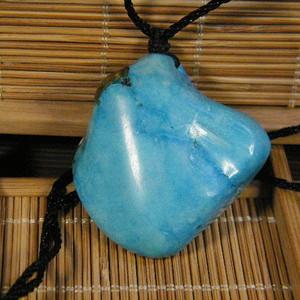 天然绿松石原石挂件38.8克