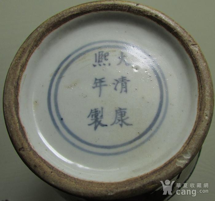 清中晚期浮雕龙凤纹黄地素三彩橄榄瓶图11