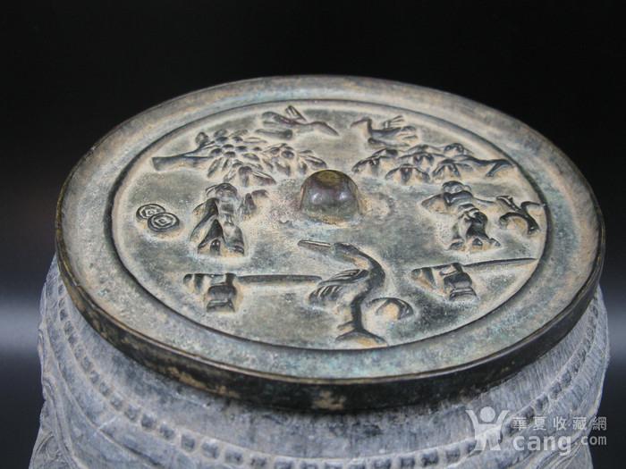 宋代花鸟人物纹铜镜图1