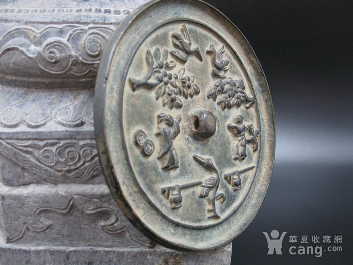 宋代花鸟人物纹铜镜图5