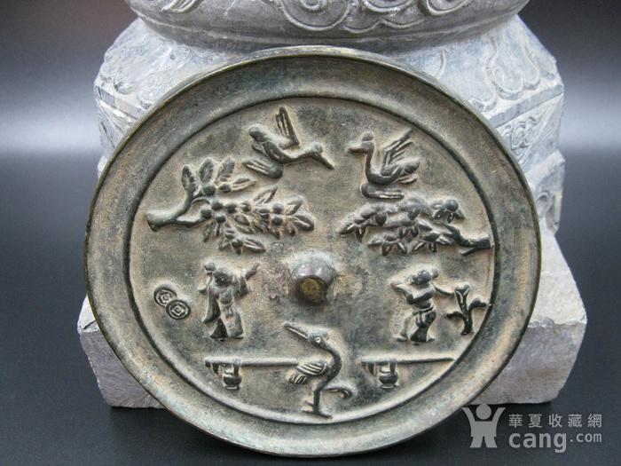 宋代花鸟人物纹铜镜图7