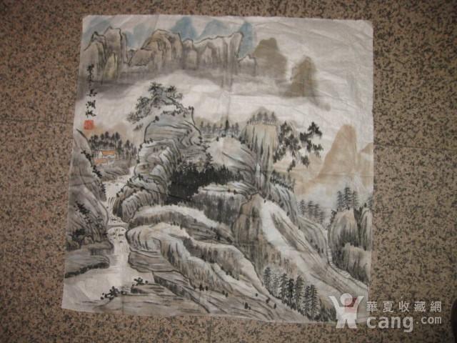 老山水画。69 69厘米图1