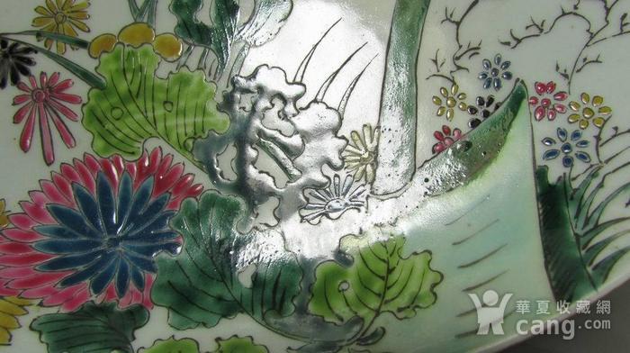 创汇期粉彩秋虫花草盘图3
